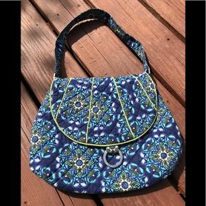 Blue printed fabric purse Maria by Giftcraft